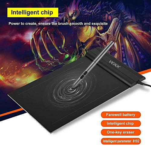 S640 Graphic Tablet Drawing Tablet 6x4 Inch Graphics Drawing Tablet Pen Tablet 8192 Levels