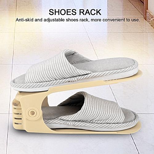 10PCS Adjustable Shoes Rack Holder Organizer Space Saver Shoes Storage 12 Colors 2019