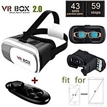 4840d408989 VR Box 2.0 Version VR Virtual Reality 3D Glasses + Bluetooth Controller