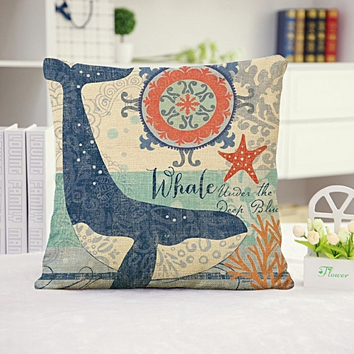 Dtrestocy Sea Animal Pillow Case Sofa Waist Throw Cushion Cover Home Decor