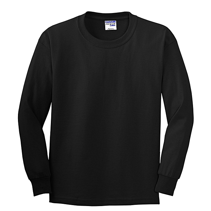 Danami Plain Long Sleeve T-Shirt- Black  2ed14ed8650