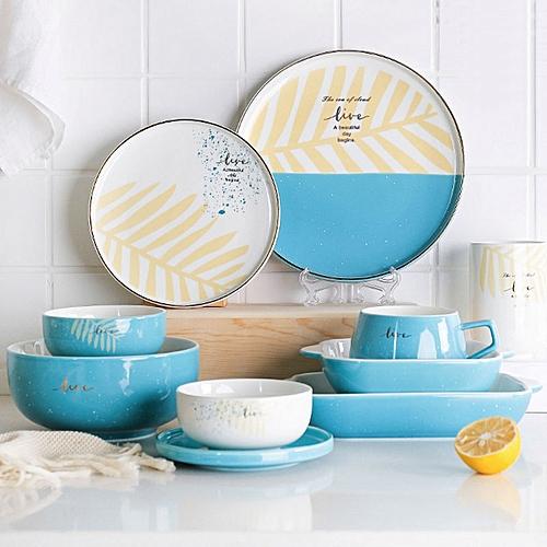 Nordic Simple Phnom Penh Ceramic Tableware Plate Home Dish Baking Tray
