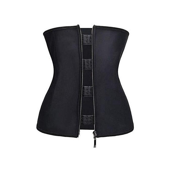 6fb48d8bdcfe8 Fashion Hook Zip Waist Trainer Corset Woman Body Shaper