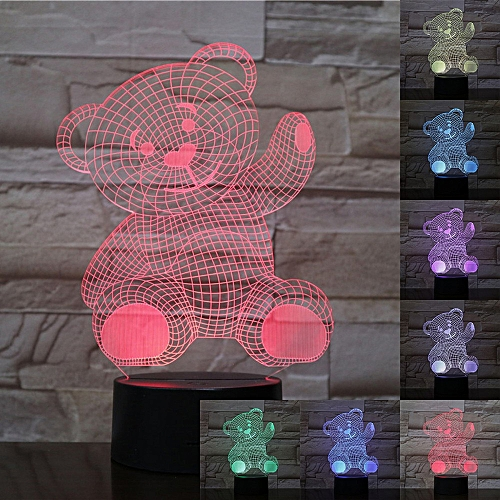 LED Night Light, 7-Color 3D Touch Remote Control Light, Gift