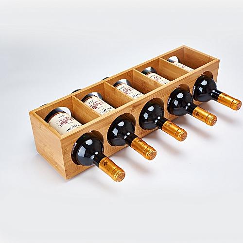 Wine Rack Bamboo Wine Rack 5-hole Swing Racks Do Not Take Up Space