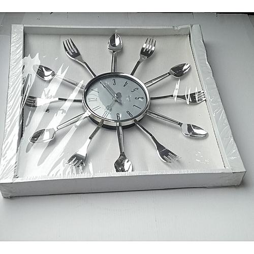 Kitchen Utensil Wall Clock