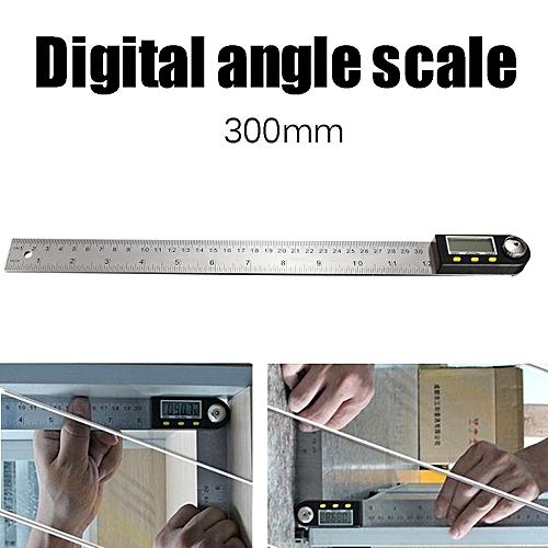 600mm 2 In1 Digital Angle Finder Meter Protractor Goniometer Ruler 360° Measurer