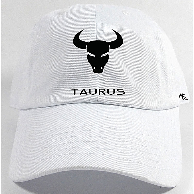 af78b82040e61 MEX O COUTURE Taurus Custom-print Unisex Baseball Cap - White ...