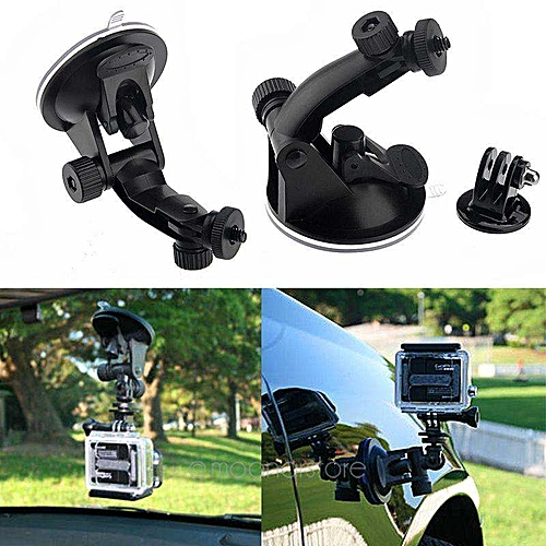 Moonar Camera Suction Cup Mount With Tripod Adapter For Gopro Hero 5/4/3+ 3/2/1