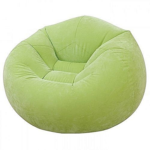 Inflatable Beanless Bag Chair Green