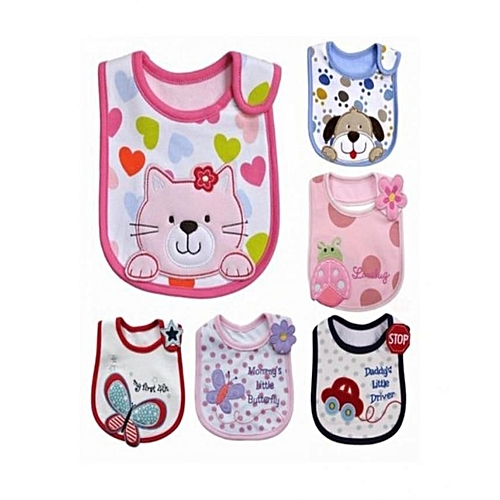 Baby Bib Set Of 6 - Multicolour