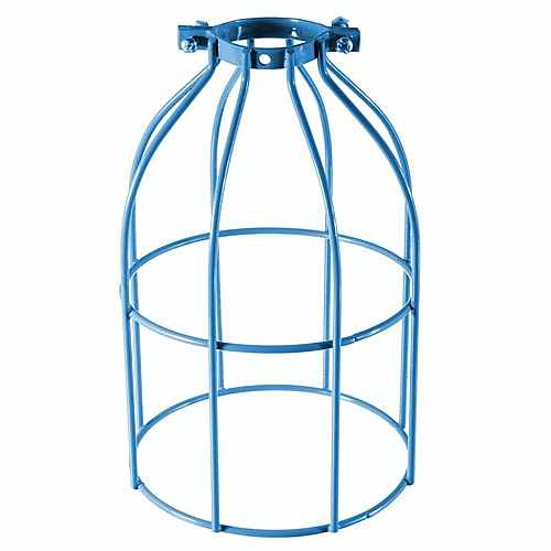 E27 Industrial Vintage Bulb Wire Cage Clamp On Metal Lamp Guard Light Lampshade