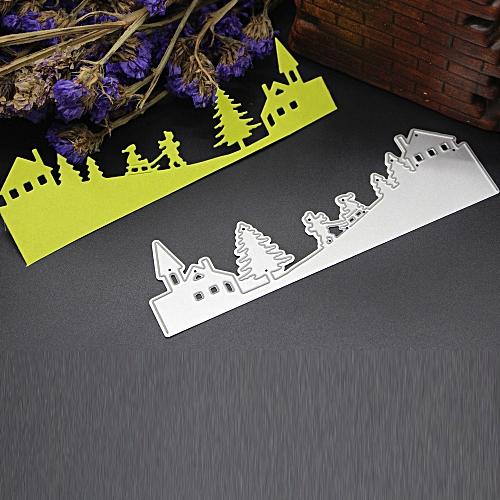 Merry Christmas Metal Cutting Dies Stencils Scrapbooking Embossing DIY Crafts Silver