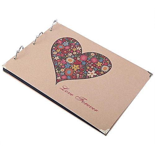 "10"" 30 Black Sheets Diy Photo Album Memory Record Scrapbook Love Forever"
