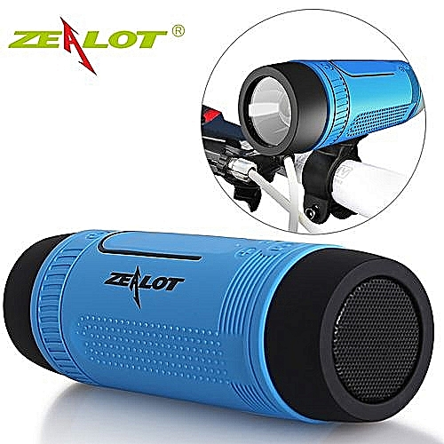 Zealot S1 Official Bluetooth Speaker With Warranty + Earphone - Power Bank & Flash Light - Tf Card With FM