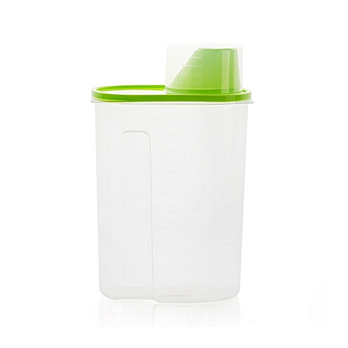 Super Large Volum Plastic Sealed Cans, Kitchen Storage Transparent Food Canister Tank, Easy Pour Out Grain Canister Army Green/L