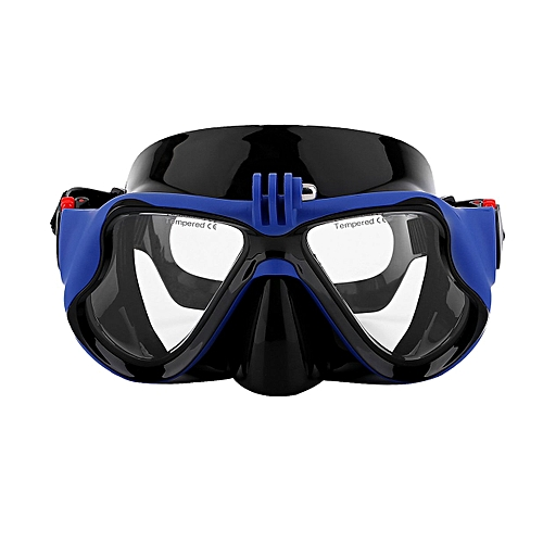 df18648038 Allwin Underwater Camera Plain Diving Mask Scuba Snorkel Swimming Goggles  For GoPro -blue