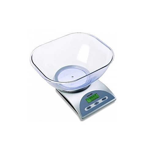 Electronic Kitchen Scale With Transparent Bowl