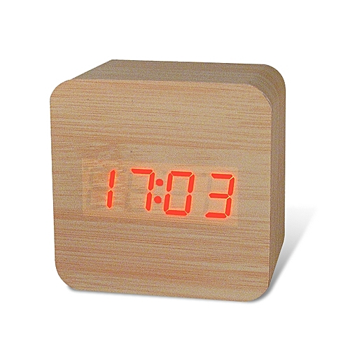 Honana DX-CO300 Electronic Clock Creative Waterproof Time Watch Digital Wooden Alarm Clock