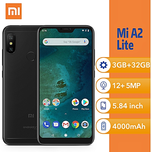 Xiaomi Mi A2 Lite (3GB RAM + 32GB ROM)Android 8 1 Oreo, (12MP+5MP)AI Dual  Rear Camera + 5MP 4G Smartphone - Black