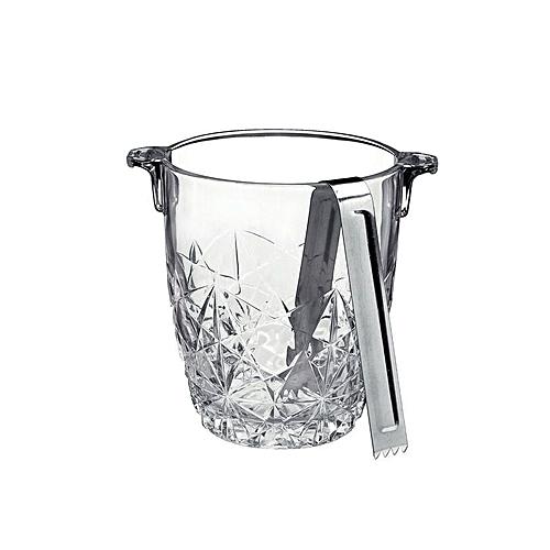 Crystal Ice Bucket & Tong