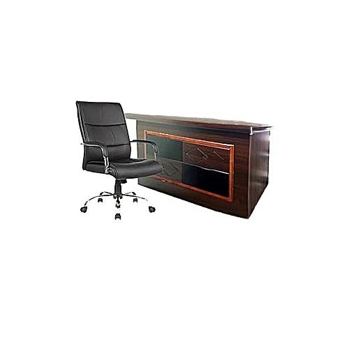 1.4m Director's Desk & Chair - Prime Set