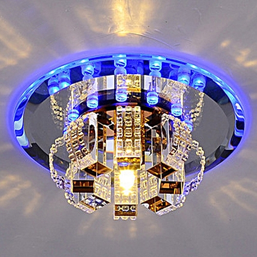 Modern Crystal Chandelier Round Ceiling Lamp For Bedroom, Bathroom, Dining Room(White Light, Warm White Light) Color:None Type:None