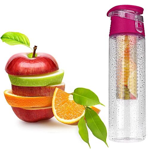 Haojks 800ML Fruit Infusion Infusing Infuser Water Bottle Sports Health Maker