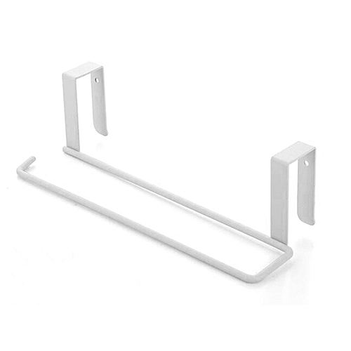 GB Kitchen Towel Holder Storage Rack Cabinet Cupboard Draining Metal Shelf-white