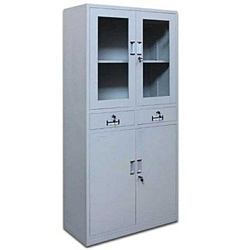 Metal Glass File Cabinet (delivery On Lagos Only)
