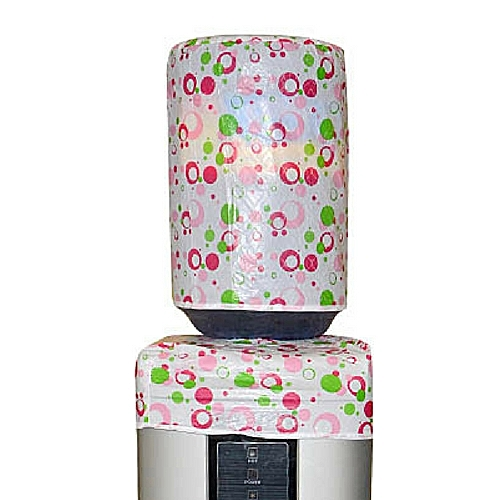 Twin Water Dispenser Cover - Pink Circles Design