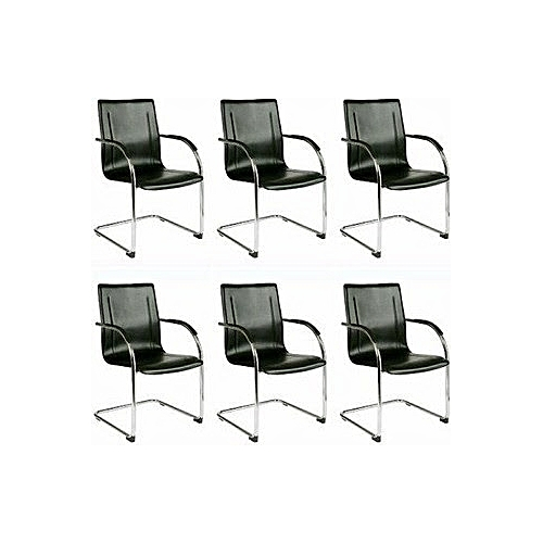 Pack Of Visitor's Chairs - Black (Delivery Outside Lagos)