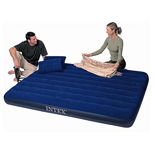 Double Size Airbed With Pump And Pillows - 2 Persons