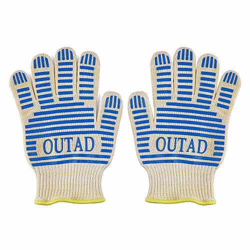 Outad Heat-Resistant Gloves Heat Resistant Waterproof Bbq Set 5 Finger