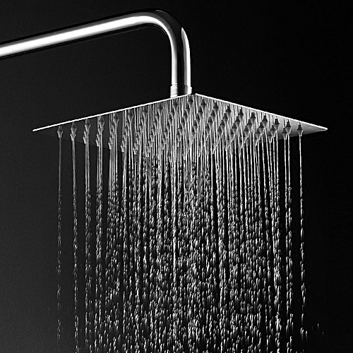 """8"""" Stainless Steel Shower Head With Shower Arm Set"""