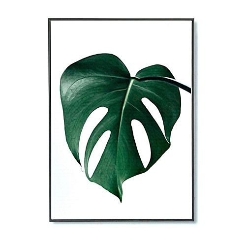 Nordic Green Plant Leaf Canvas Art Poster Print Wall Picture Home Decor No Frame [(40*50cm)]