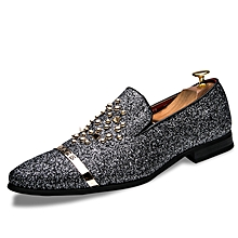 b5a659fe17cb Rivet Casual Genuine Leather Shoes Men Formal Moccassins (Grey)