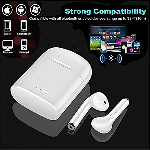 I7s TWS Bluetooth Wireless Stereo Earbuds For IPhone,SAMSUNG And All Android Devices