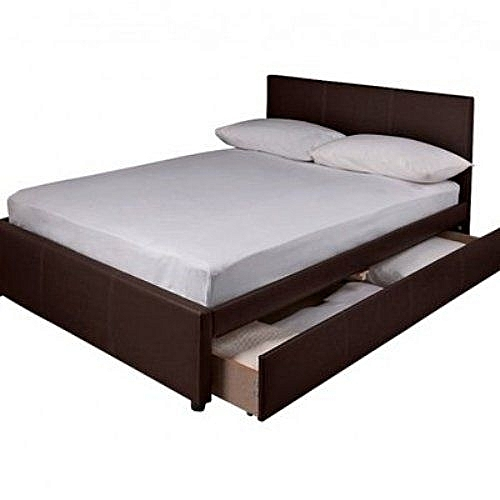 ZR FULL SET BONANZA!! Avy Bed Frame 5X6 Ft With To Fit Mattress & 2 ...