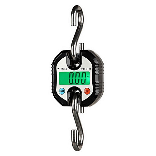 150KG Crane Scale Industrial Hook Hanging Weight Digital LCD Display Luggage New Black