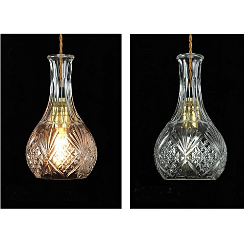 Vintage Decanter Class Bottle Pendant Light Adjustable Cable Chandelier Fixtures#B
