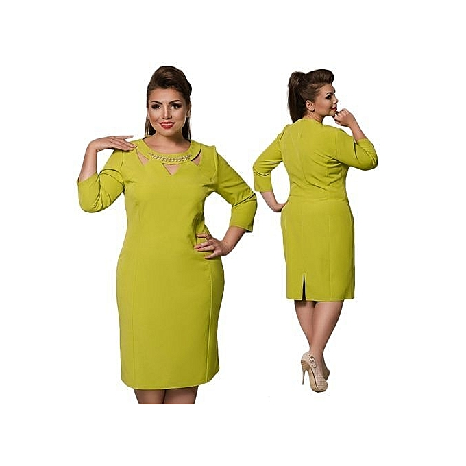 Fashion Large Size Dresses For Ol Ladies Business Office Dresses