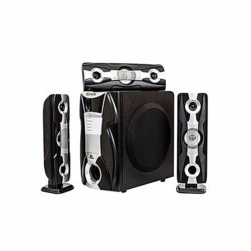 Premium 3.1 Heavy Duty Sub Woofer Bluetooth Home Theater System - DJ-Q3L Silver Blend