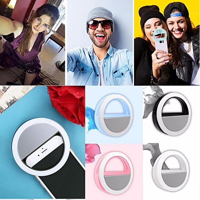 ... Selfie Portable Fill Light LED Ring Camera Photography For Smart Phone White ...