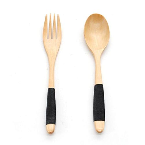 Honana Quality Rice Spoon Fine Wooden Spoon Fork Set