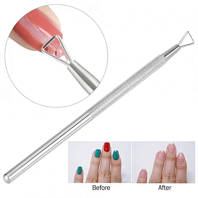 triangle head nail gel polish remover pusher stainless steel cuticle dead  skin remover nail art