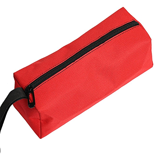 Oxford Storage Hand Tool Bag Screws Nails Drill Bit Metal Parts Pouch Bag Case Red