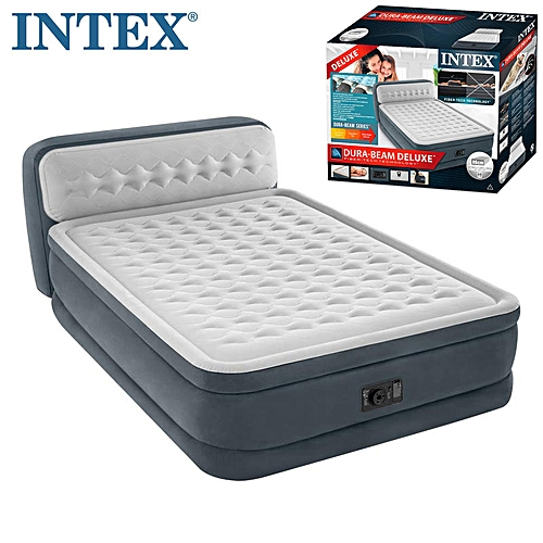 Improved King-Size Inflatable Mattress Airbed With Headboard Ultra Plush