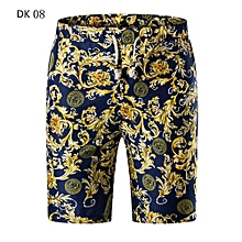 New Shorts Men New Cotton Brand Clothing Slim Fit Pattern Fashion Male High  Quality-DK08 2526ff1c0a