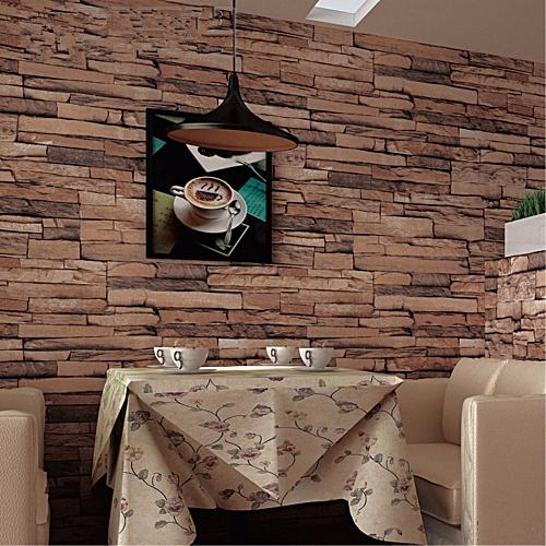 Generic 3d Wallpaper Bedroom Background Decor Slate Brick Stone
